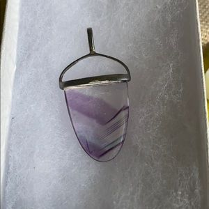 Glass pendant in sterling silver setting